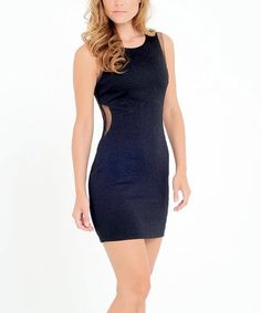 Loving this Black Bodycon Dress on #zulily! #zulilyfinds