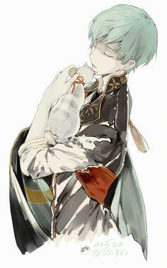touken ranbu and ichigo hitofuri image Manga Boy, Manga Anime, Anime Art, Touken Ranbu, Cute Anime Boy, Anime Guys, Boy Illustration, Another Anime, Ichimatsu