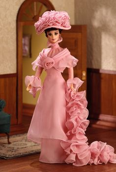 Pink Barbie® Doll as Eliza Doolittle from My Fair Lady™ in Her Closing Scene | Barbie Collector