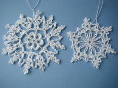 The Crafter's Apprentice: crochet santa and snowflakes