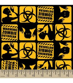 Snuggle Flannel Fabric - Zombies Outbreak | Halloween Fabric