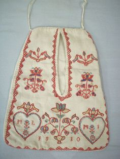 19th c. Georgian Regency Needlework Pocket