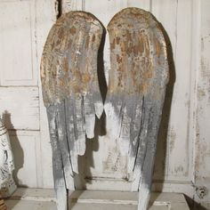 Large angel wings wooden gray rusty wall by AnitaSperoDesign, $220.00