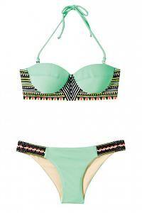mint green tribal swimsuit