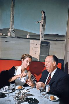 Alfred Hitchcock and Vera Miles