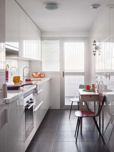 narrow kitchen