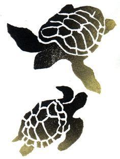 sea turtle stencil - Google Search