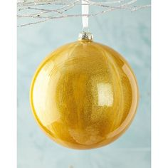 Jim Marvin Golden Malachite Christmas Ball Ornament (38 ILS) ❤ liked on Polyvore featuring home, home decor, holiday decorations, gold, gold ball ornaments, xmas ball ornaments, gold home decor, glass ball ornaments and xmas ornaments