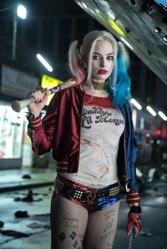 halloween costume idea: i seriously loved margot robbie's version of harley quinn