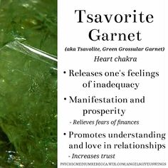 Tsavorite Garnet crystal meaning