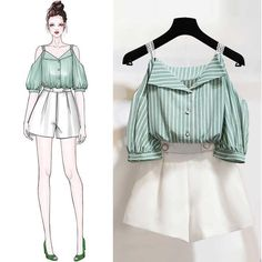 Fashion design sketches 600386194055571431 - Latest casual korean fashion 8965597237 Source by yasminecharrad Look Fashion, Teen Fashion, Fashion Models, Fashion Outfits, Fashion Shorts, Woman Fashion, Dress Fashion, Fashion Brands, Fashion Tips
