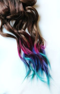 Rainbow ombré hair