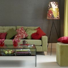 Room Color Design Beautiful Combination Sage Green Red