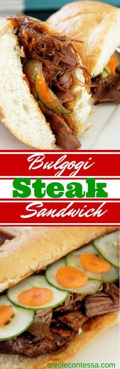 Korean Bulgogi Steak Sandwich-Creole Contessa