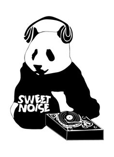Sweet Noise Panda Logo Design