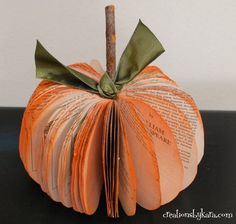 [Halloween] #DIY Bookpage Pumpkin