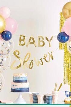 Tolle Babyparty-Deko in Rosa, Navyblue und Gold für die Gender Reveal oder eine normale Babyparty in gemischtfarbigem Design. Auch für die Babyparty für Zwillinge eine geniale Dekorations-Idee. Süße Babybody-Motive und eine geschmackvolle Farbabstimmung dekorieren deine Babyparty modern und süß. Baby Motiv, Reveal Parties, Gender Reveal, Birthday Cake, Neutral, Modern, Design, Pink, Boy Or Girl