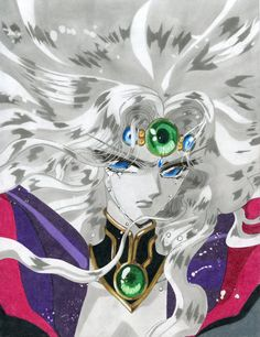 Princess Emeraude from CLAMP's Magic Knight Rayearth. In Cephiro, all is determined by the strength of one's heart, so the stability of the land is uphe. Chise Hatori, Manga Anime, Anime Art, Magic Knight Rayearth, Xxxholic, Familia Anime, Sailor Moon Crystal, Girls World, Cardcaptor Sakura
