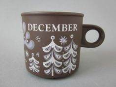 Retro 1977 Hornsea Pottery December Month Mug / Cup Kenneth Townsend. | eBay