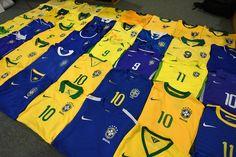 Brazil football shirts collection Football Shirts, Brazil, Trunks, Swimming, Swimwear, Collection, Fashion, Football Jerseys, Stems