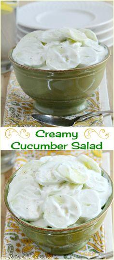 creamy cucubmer salad