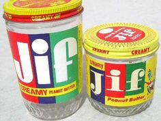 Metal lids & didn't have to have the tamper proof seal on top of jar like we do now. Ah.. A simpler life.