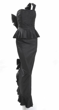 1986 Chanel Boutique Silk Gown | From a collection of rare vintage evening dresses at http://www.1stdibs.com/fashion/clothing/evening-dresses/