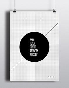 poster sosteniendose Free Flyer/Poster Mock-up
