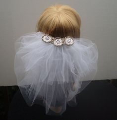 White Four Layer Bridal Short Veil with by IrmasElegantBoutique, $55.00