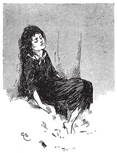'e child sat there stiff and cold' Illustration by Gordon Browne from The Little Match Girl – The Golden Age of Illustration Series by Pook Press #fairytales #ChristmasStories #xmas