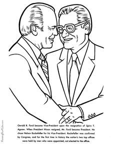 free printable president gerald ford biography facts and coloring pages