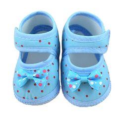 Barato Sapatos recém nascidos sapatos de bebê 2016 polka dot bebê menina sapatas…