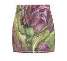 Wild Garden Tulips art Pencil Skirt by Carol Cavalaris.