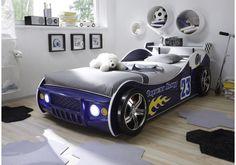 62-00097 Autobett 90 x 200 cm blau glänzend lackiert