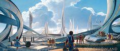 Concept Art de Tomorrowland, de Disney. Estreno en Mayo de 2015.