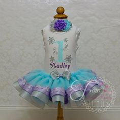Winter Onederland First Birthday Outfit by FourSweetHeartsTutus