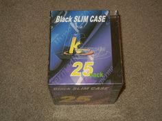 SLIM CASE (Jewel Cases, CD, DVD, Media, Packaging, Supplies, Black, CD-Rom)    #KHypermedia