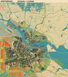General expansion plan for Amsterdam, 1934 (detail)