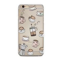 IPHONE CASE COFFEE (€19) ❤ liked on Polyvore featuring accessories, tech accessories, iphone cover case and iphone sleeve case