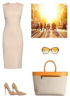 """Summer in the city"" by dezaval ❤ liked on Polyvore featuring Raey, Victoria Beckham, Burberry and Jimmy Choo"