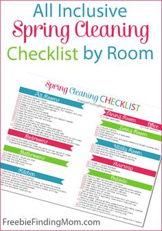 All Inclusive Spring Cleaning Checklist by Room
