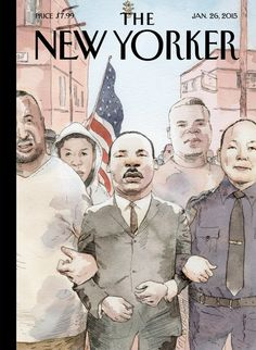Fantastic cover of THE NEW YORKER… actually sort of inspiring if you ask me… I get a few goose bumps every time I look at it.  http://newsone.com/3082435/new-yorker-martin-luther-king/