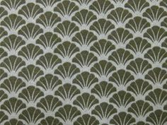 Japanese Cotton Kimono Fabric - Green Fan Pattern | Flickr - Photo Sharing!