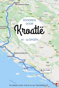Rondreis Kroatië: Route voor 10-14 dagen - Tips Op Reis Road Trip Europe, Europe Travel Tips, Travel List, Places To Travel, Places To See, Trekking, Croatia Travel Guide, Walking Routes, Travel Around The World