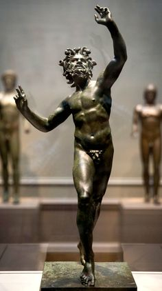 """""""Dancing Faun (Pan),"""" from around 100 B.C., at """"Power and Pathos: Bronze Sculpture of the Hellenistic World"""" at the National Gallery of Art. I The House of the Faun, built during the 2nd century BC, was one of the largest and most impressive private residences in Pompeii"""