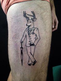 gentleman deer tattoo