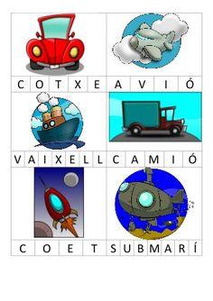 Bingo lletres Bingo, My Animal, Kids And Parenting, Vocabulary, Transportation, Homeschool, Caption, Messages, Activities