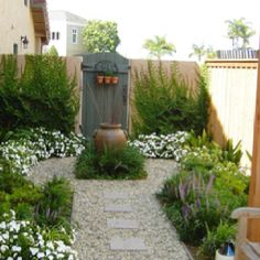 Front Yard Garden Design This is also another look I'd like for the side garden moving between the patio and the back grassy area - Pea gravel patio pictures Small Front Yard Landscaping, Backyard Landscaping, Backyard Ideas, Small Patio, Natural Landscaping, Backyard Designs, Patio Ideas, Modern Backyard, Inexpensive Landscaping