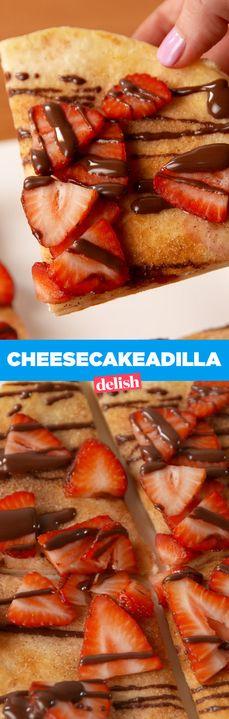 Cheesecake + quesadilla = YUM. Get the recipe from Delish.com.