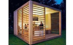 Cube shaped garden room. More at: www.myhomerocks.com/2012/05/garden-rooms-outdoor-offices/ #gardening